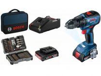 Bosch GSR 18V-50 Professional - 2x 18V/2.0Ah, 50Nm, 2 rychl., příslušenství, taška