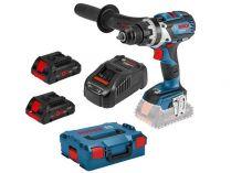 Bosch GSR 18V-110 C Professional - 2x 18V/5.0Ah, 110Nm, kufr, bezuhl. aku vrtačka bez příklepu