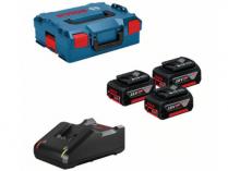 Bosch Startovací sada: 3× aku GBA 18V/5.0Ah + GAL 18V-40 Professional + kufr L-BOXX 136 (0615990L3T)