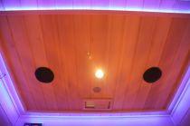 Infrasauna Belatrix Benton 1 pro 1 osobu - 90 x 90 x 190 cm, Kanadský jedlovec, plně spektrální zářiče (5001B)