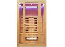 Infrasauna Belatrix Benton 2 pro 2 osoby - 120 x 105 x 190 cm, Kanadský jedlovec, plně spektrální zářiče (5002B)