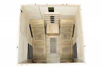 Infrasauna Belatrix Hadir 2L pro 2 osoby, s lehátkem, 180 x 180 x 190 cm, Kanadský jedlovec, plně spektrální a karbonové zářiče (KD-5004SC)