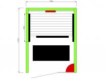 Infrasauna Belatrix Vista 1 pro 1 osobu - 90 x 115 x 190 cm, Kanadský jedlovec, plně spektrální + karbonové zářiče (KD-V001)