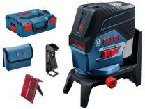 Křížový laser Bosch GCL 2-50 C Professional - 4x AA, 20m, držáky, cílová destička, pouzdro