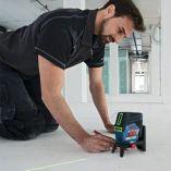 Křížový laser Bosch GCL 2-50 CG Professional - 12V/4x AA, 50m, svěrka na strop, vložky, cílová destička, otočný držák, pouzdro, kufr L-BOXX 136, bez akumulátoru a nabíječky (0601066H03) Bosch PROFI
