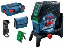 Křížový laser Bosch GCL 2-50 CG Professional - 12V/4x AA, 50m, příslušenství, kufr, bez aku