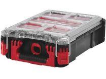 Kufr - Plastový organizér Milwaukee PACKOUT - 390x245x115mm, 5 přepážek