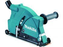 Odsávací kryt - vodící saně s odsávacím hrdlem na řezání pro úhlové brusky Makita 180mm a 230mm