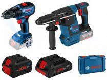 Sada aku nářadí Bosch Professional: GSR 18V-50 + GBH 18V-26 + 2x aku 18V/8.0+4.0Ah + kufr