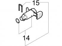 Vývod na tlakovou hadici (Fitting) pro Michelin MPX 130 B / BW (SET), MPX 120 L (od r. 2014)