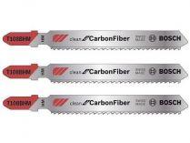 3x Pilový plátek na lamináty Bosch T 108 BHM Clean for Carbon Fibre - 92mm