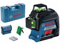 Křížový laser Bosch GLL 3-80 G Professional - 4x AA, 30m, cílová destička, taška, kufr