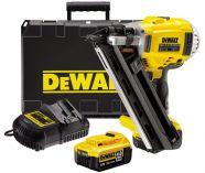 Zobrazit detail - DeWalt DCN690M2, 2x 18V/4.0Ah, XR Li-Ion, 90mm, kufr, Bezuhlíková aku hřebíkovačka