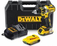 DeWalt DCD790D2, 2x 18V/2.0Ah Li-ion, bezuhlíková aku vrtačka bez příklepu