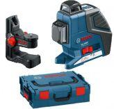 Křížový laser Bosch GLL 2-80 P Professional + Univerzální držák BM 1, kufr L-Boxx