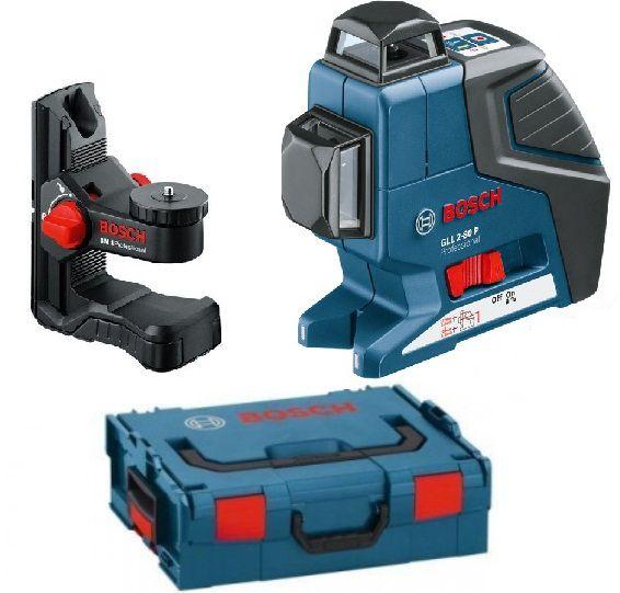 Křížový laser Bosch GLL 2-80 P Professional + Univerzální držák BM 1 + kufr L-Boxx (0601063208)
