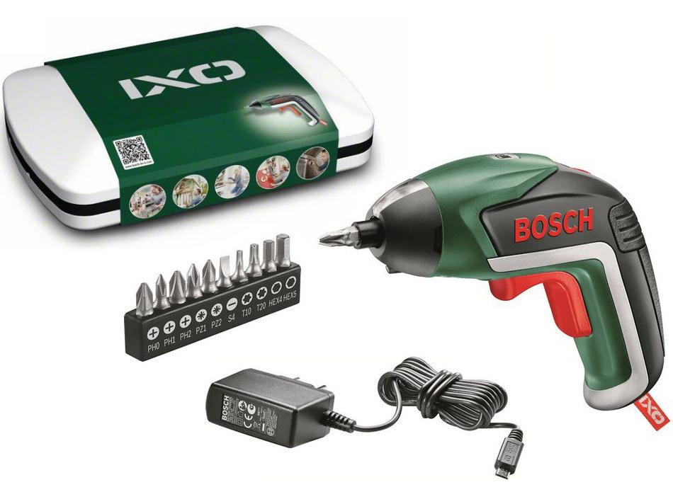 Aku šroubovák Bosch IXO V Basic - 3.6V/1.5Ah Li-Ion, v plechové krabičce (06039A8020) Bosch HOBBY