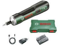 Bosch PushDrive - 3.6V/1.5Ah, 5Nm, Mikro USB, 0.28kg, sada bitů, úložný box, aku šroubovák