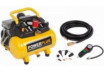Bezolejový kompresor PowerPlus POWX1724S - 550W, 8bar, 105l/min, 14kg