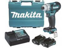 """Makita TD111DSAE - 2x 12V/2.0Ah, 1/4"""", 135Nm, 1.1kg, kufr, multifunkční aku rázový utahovák"""