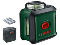 Křížový laser Bosch Universal Level 360 Solo - 24m, pouzdro, baterie