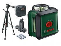 Křížový laser Bosch Universal Level 360 Sada Premium - 24m, držák, stativ, pouzdro, baterie