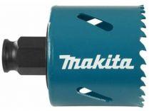 """Vrtací korunka - děrovka Ezychange na nerez, hliník, barevné kovy, umělou hmotu, dřevo a sádrokarton Makita B-11411 - pr. 57 mm, BiM, upínání 1/4"""" šestihran nebo SDS-Plus"""