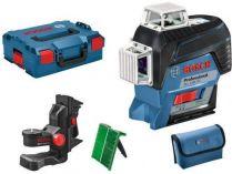 Bosch GLL 3-80 CG Professional Křížový laser - 1x aku 12V/2.0Ah, indikátor kalibrace, držák, kufr, bez akumulátoru a nabíječky (0601063T03)