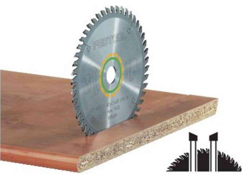 Pilový kotouč na čisté příčné řezy bez otřepů do masivního dřeva a na desky s povrchovou úpravou nebo dýhované desky pro pily Festool TS 55, TSC 55, ATF 55, AP 55 (Festool HW 160x2,2x20 W48) - 160x2.2x20mm, 48 zubů, kód: 491952
