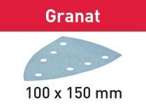 100x Brusný papír Festool Granat STF DELTA/7 P240 GR/100 - 100x150mm, zr. P240