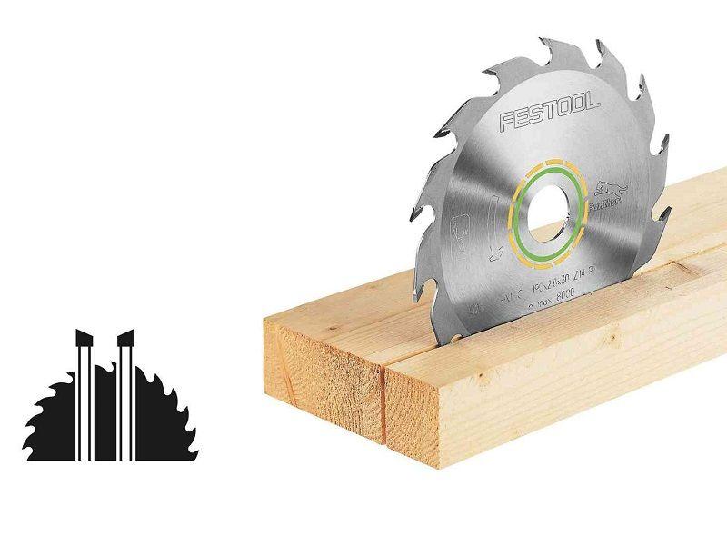 Pilový kotouč na všechny dřevěné materiály, desky ze stavebních materiálů, měkké plasty pro pily Festool TS 55, TSC 55, ATF 55 a AP 55 (Festool HW 160x2,2x20 PW12) - 160x2.2x20mm, 12 zubů, kód: 496301
