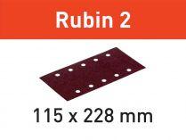 50x Brusný papír Festool Rubin 2 - 115x228mm, zr.120