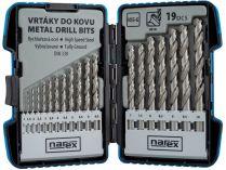 19-dílná sada vrtáků do kovu Narex 19-SET HSS-G MSP - 1-10x0.5mm