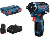 Bosch GSR 12V-35 HX Professional - 2x 12V/3.0Ah, 35Nm, 0.57kg, kufr, aku šroubovák