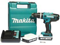 Makita HP488DWE - 2x 18V/1.5Ah G, 42Nm, 2 rychl., 1.7kg, kufr, aku vrtačka s příklepem