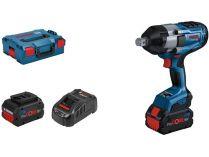 "Bosch GDS 18V-1050 H Professional - 2x 18V/8.0Ah, 3/4"", 1700Nm, 2.9kg, kufr L-BOXX 136"