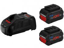 Bosch Startovací sada: 2× ProCORE18V/5.5Ah + GAL 1880 CV Professional