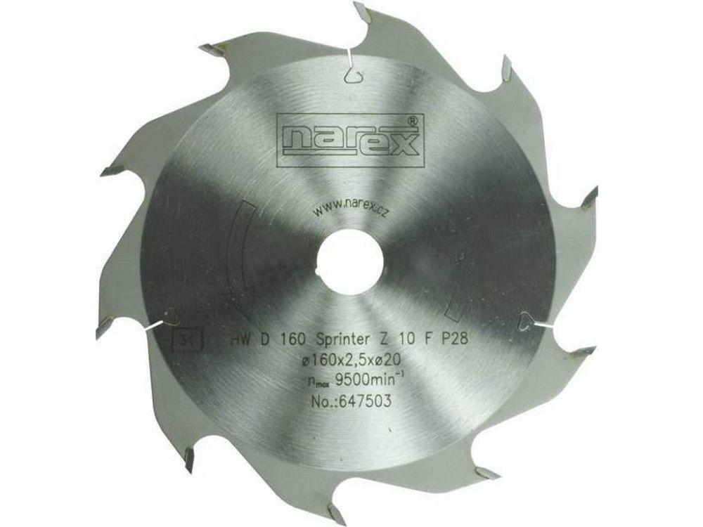 Pilový kotouč na rychlé podélné řezy v masivu Narex HW 160x2,5x20 10FZ Sprinter - 160x2.5x20, 10 zubů (00647503)