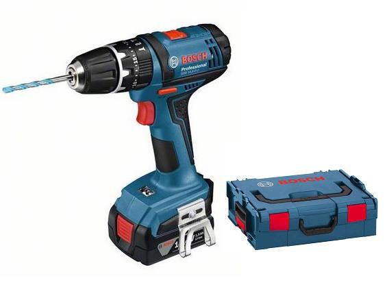 Bosch GSB 14,4-2-LI Professional 2x 1,5 Ah, aku vrtačka s příklepem, L-Boxx (06019C7000)