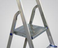 Hliníkové jednostranné 4 stupňové štafle - schůdky s plošinou ELKOP ALW 1404