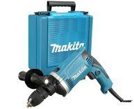 Příklepová vrtačka Makita HP1631K - 710W; 3200ot./min.; 1.9kg; kufr; rychloup.sklíčidlo