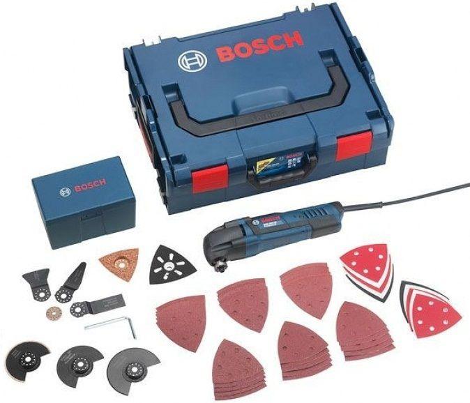 Multifunkční pila Multi-cutter Bosch GOP 250 CE Professional + L-BOXX + 36 dílné příslušenství (0601230001)