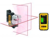DeWALT DW089KD 3-bodový - samonivelační, profi křížový laser + detektor DE0892