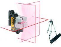 DeWALT DW089KTRI 3-bodový - samonivelační, profi křížový laser + stativ DE0881