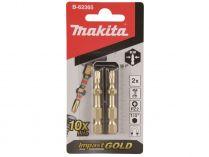 2x Šroubovací BIT Makita Impact GOLD super slim torsní bit - PZ2 křížový, 50mm
