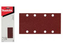 50x Brusný papír Makita P-36201 - 93x228mm, zr. K80, neděrovaný