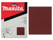 50x Brusný papír Makita P-36619 - 114x140mm, zr. K80, neděrovaný