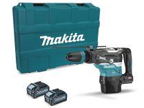 Bezuhlíkové kombi aku kladivo Makita HR005GM202 - 2x 40V/4.0Ah, 8J, SDS-Max, 7.7kg, kufr