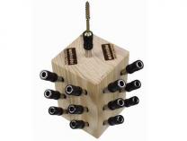 WEKADOR - držák bitů s nastavitelným zapuštěním bitu - 13ks + prodejní stojan