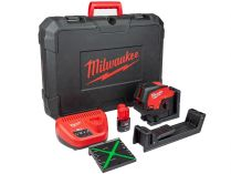 Křížový laser Milwaukee M12 CLLP-301C - 1x 12V3.0Ah, 38m, cílová destička, kufr